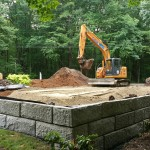 Masonry walls are sometimes part of septic system installations.